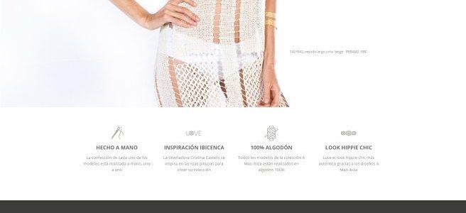 Ejemplo de Página web GRATIS para la marca de ropa «A Mao Ibiza»