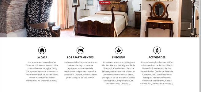 Página Web GRATIS para apartamentos rurales