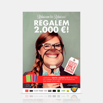 Agencia publicidad Barcelona. Gruetzi, campaña rebajas centro comercial