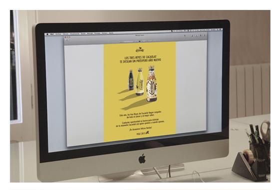 Gruetzi, agencia creativa de publicidad en Barcelona. Felicitación Navidad Cacaolat