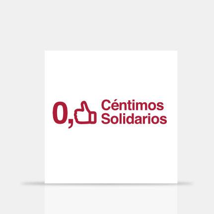 Gruetzi, estudio diseño gráfico Barcelona. Diseño logotipo ONG Céntimos Solidarios