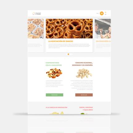 Diseñadores de páginas web en Barcelona. Diseño y programación de la página web de la Asociación de Snacks y su blog Snackeando