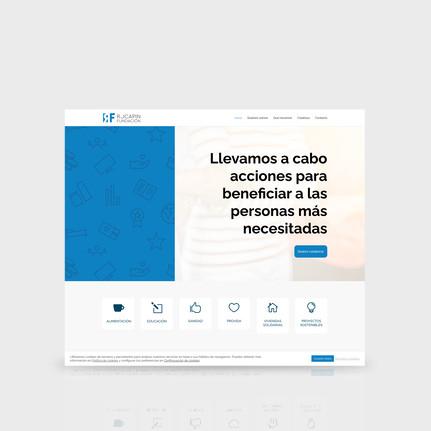 Dissenyadors web Barcelona, SEO, posicionament natural cercadors per a Rocapin Fundación. By Gruetzi