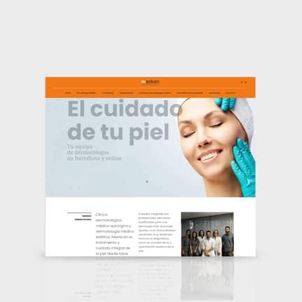 Diseñadores web en Barcelona, expertos SEO. Saban Dermatología